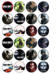 24 x Call of Duty Ghosts Edible Rice Wafer Paper Bun Cup Cake Top Toppers